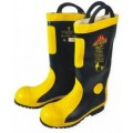 PROTECTIVE BOOTS FOR FIREFIGHTERS, YELLOW / BLACK, WITH HANDLE