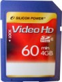 Silicon power 4gb full HD video SD card