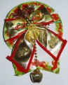 Christmas bow with hanging bell -  4728
