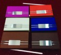 CARD HOLDERS MAGNETIC,  FLAT RECTANGLE BLUE, PINK,  DARK BROWN, WHITE