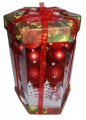 Christmas balls 35pc 5cm in gift box ribbon tied - 4721